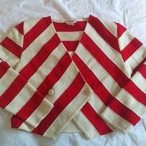 RODIER - striped wool knit jacket